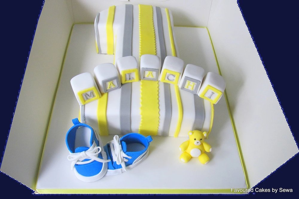 Large Number 1 Stripes & Puma Trainers Cake