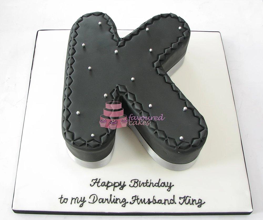 Letter K Cake