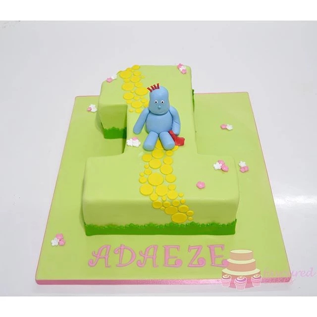 Iggle Piggle Number 1 in the Night Garden Cake