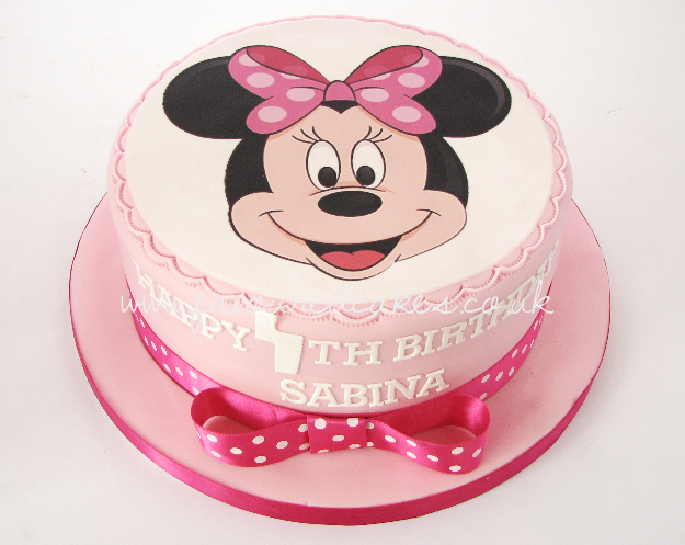 Minnie Mouse Picture Face Cake