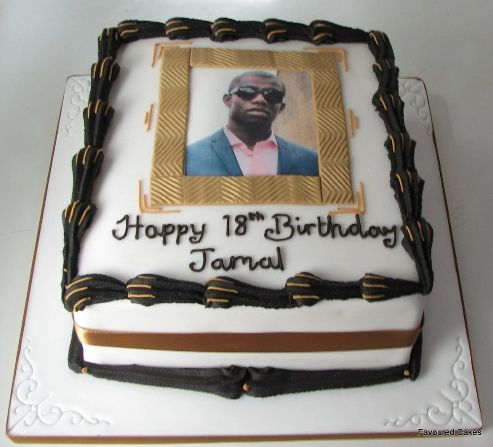 Bespoke Picture Frame Cake - Mens