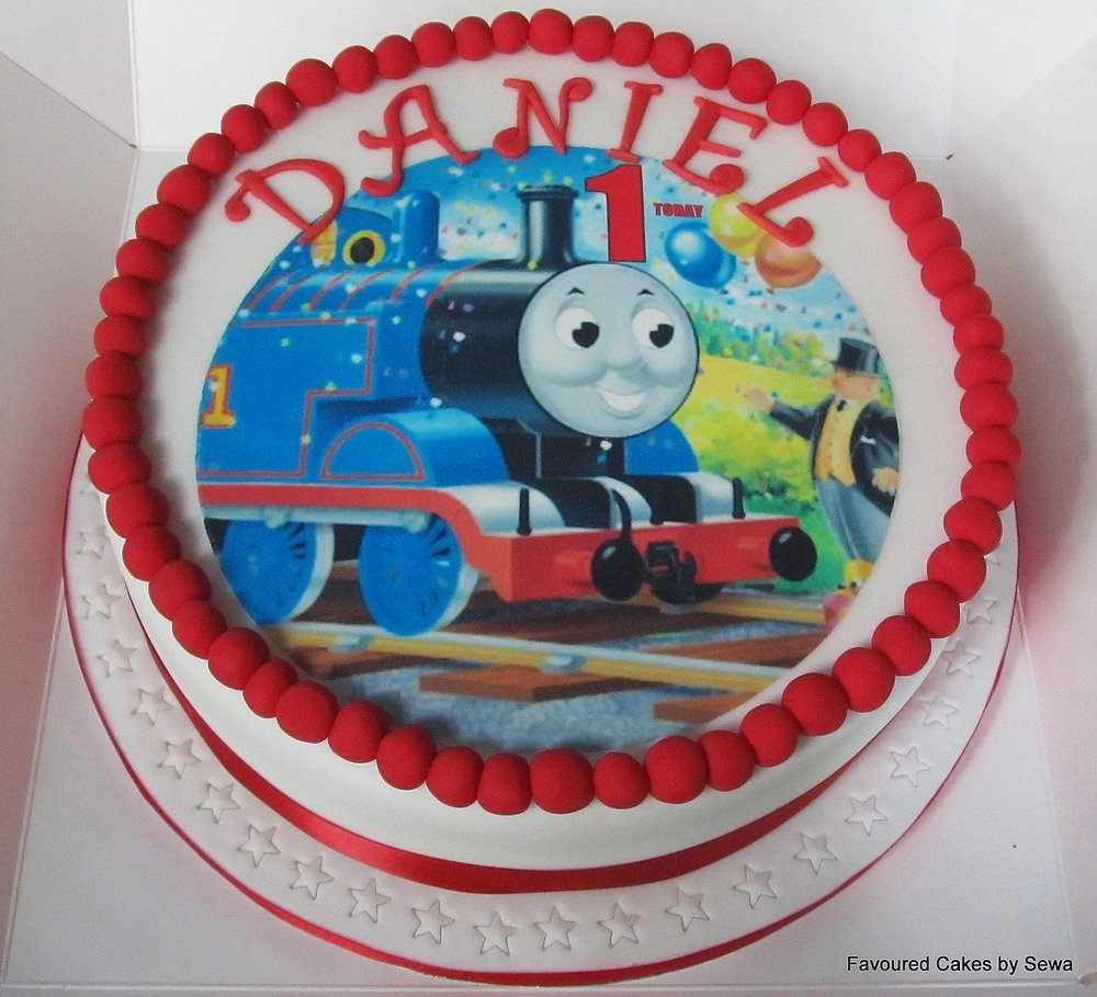 Thomas the Tank Engine Picture Cake