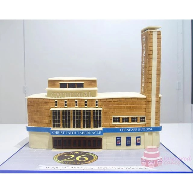 Christ Faith Tabernacle Cathedral Anniversary Cake