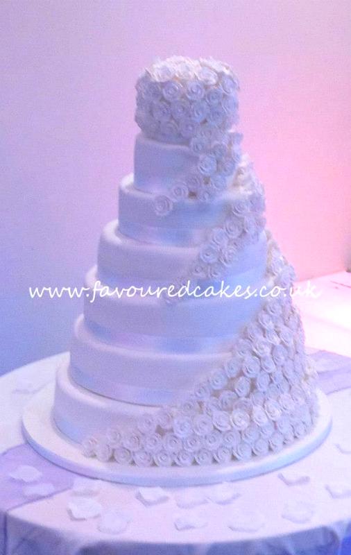 Cascading Roses Cake