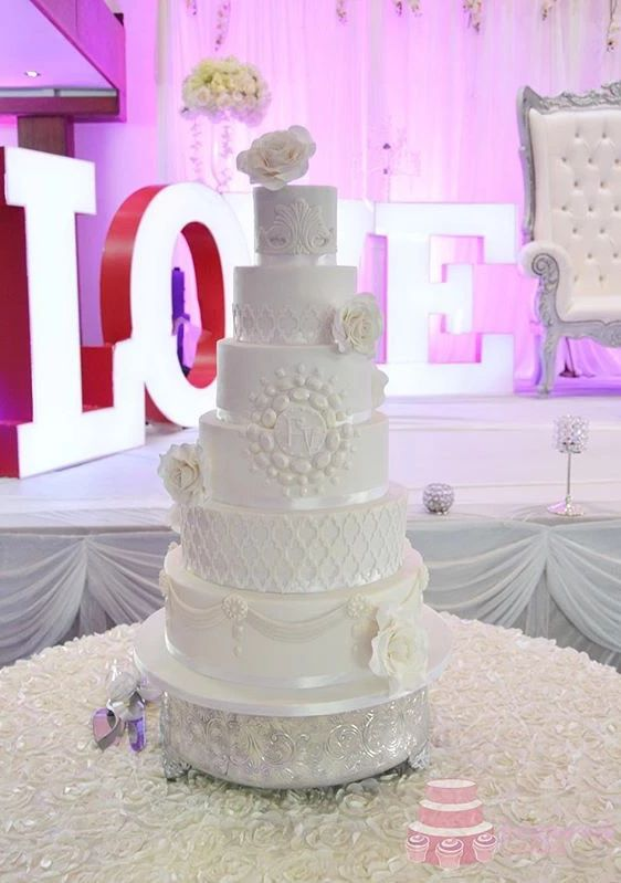 Christel White Wedding Cake