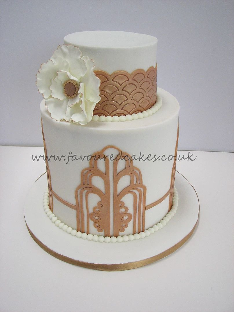 Gatsby / Art Deco Wedding Cake