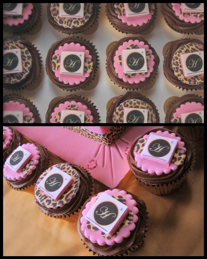 Leopard Print Logo Cupcakes