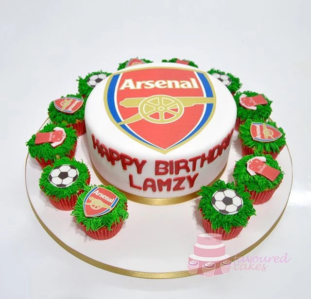 Arsenal Football Cupcakes