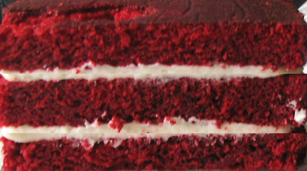 Red velvet and cream cheese