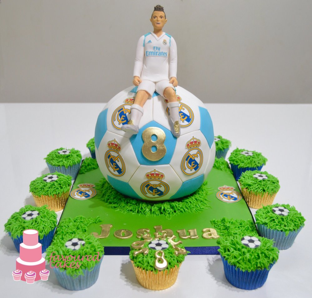 Real Madrid Ronaldo Football Cake