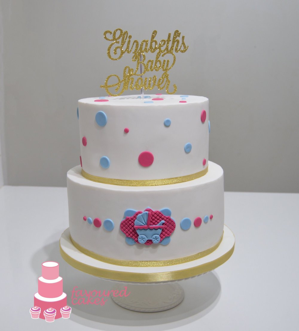 Spotty Pink & Blue Cake