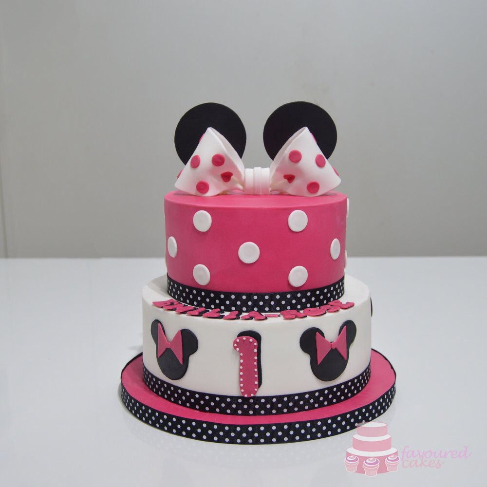 Fuschia Pink Minnie Cake