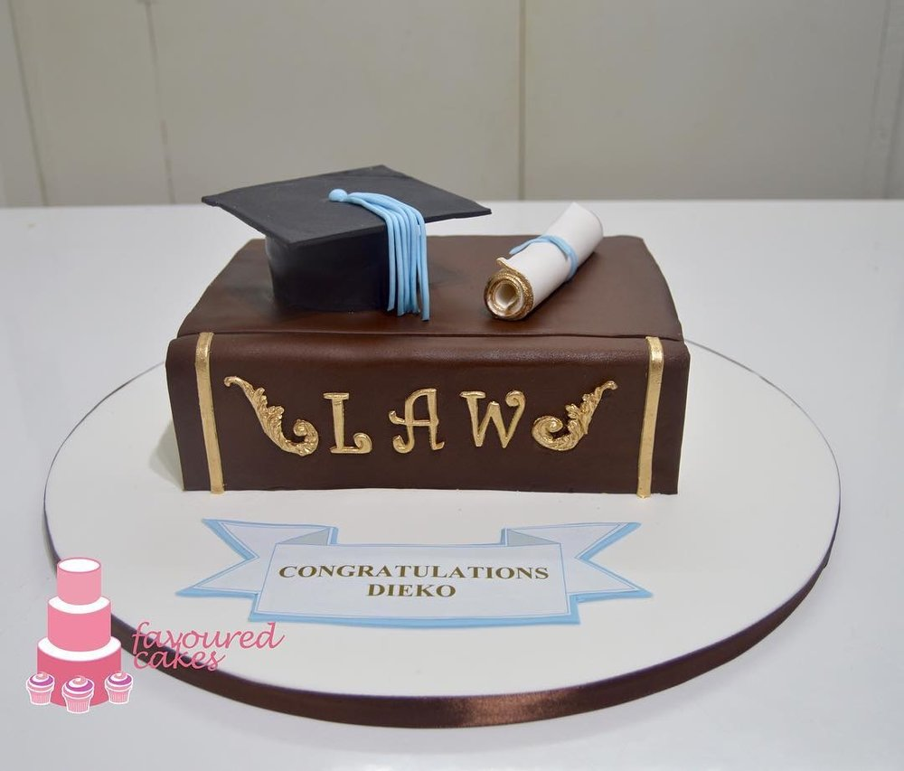Law Book Mortar Cake