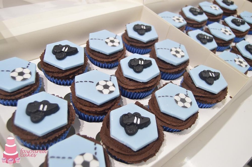 Football Boots Cupcakes
