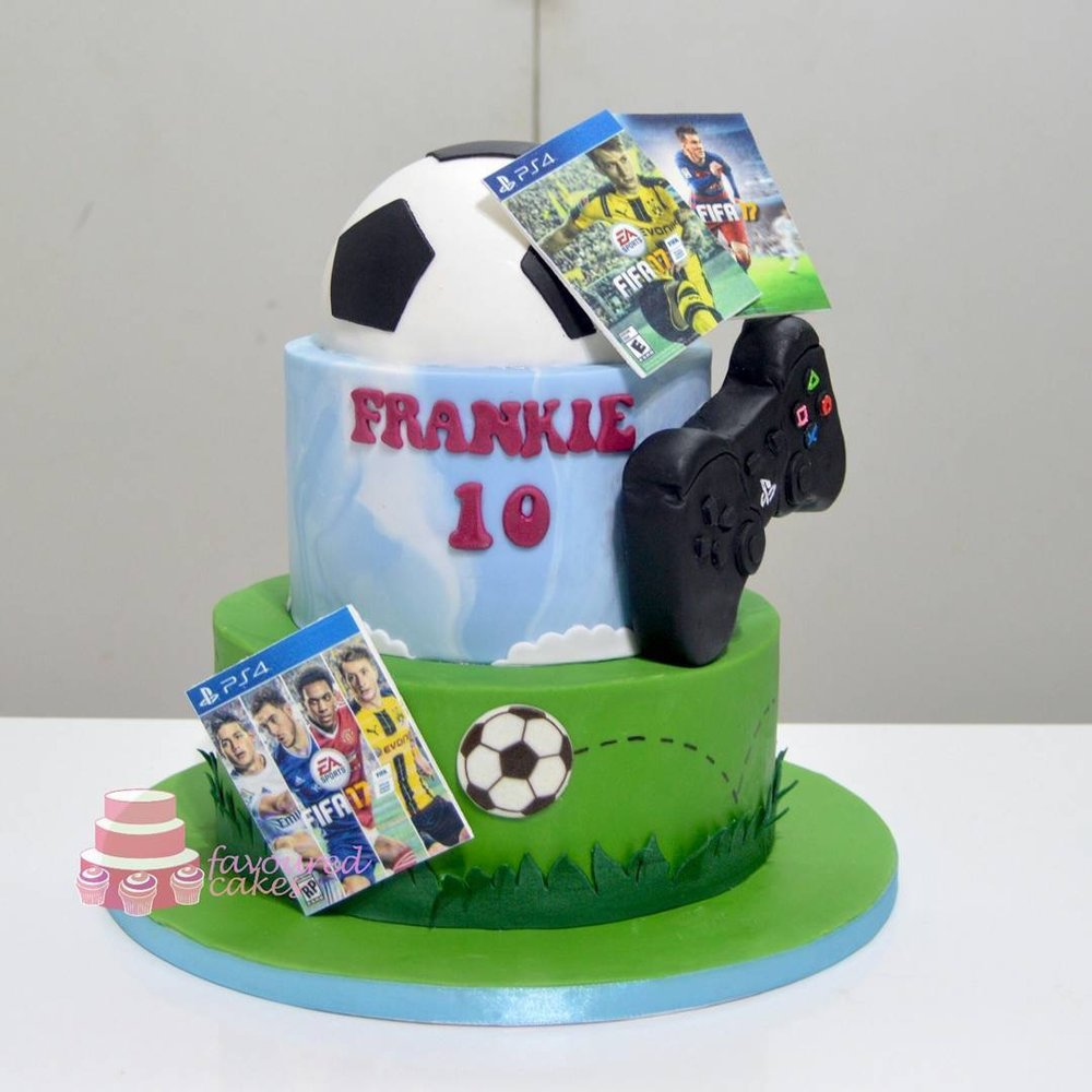 PS4 Football Games Cake