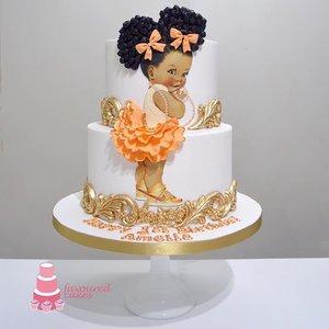 Afro Puff Baby Cake 1