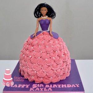 Rosette Doll Cake
