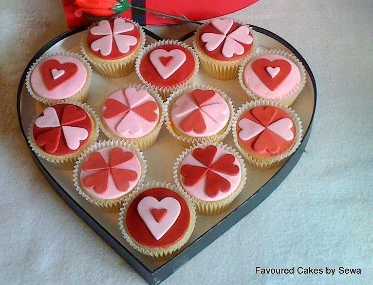 Valentine Hearts Cupcakes