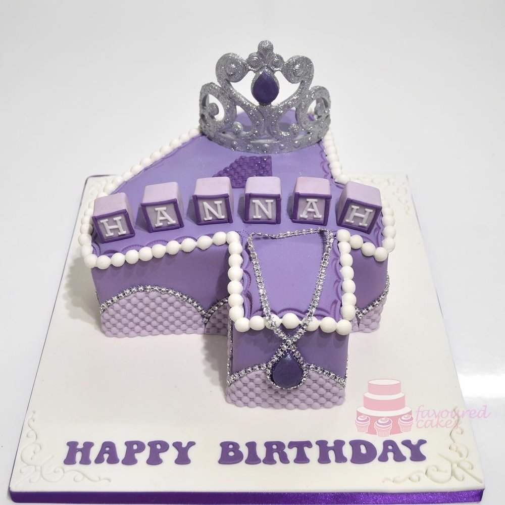 Princess Sofia Number Cake