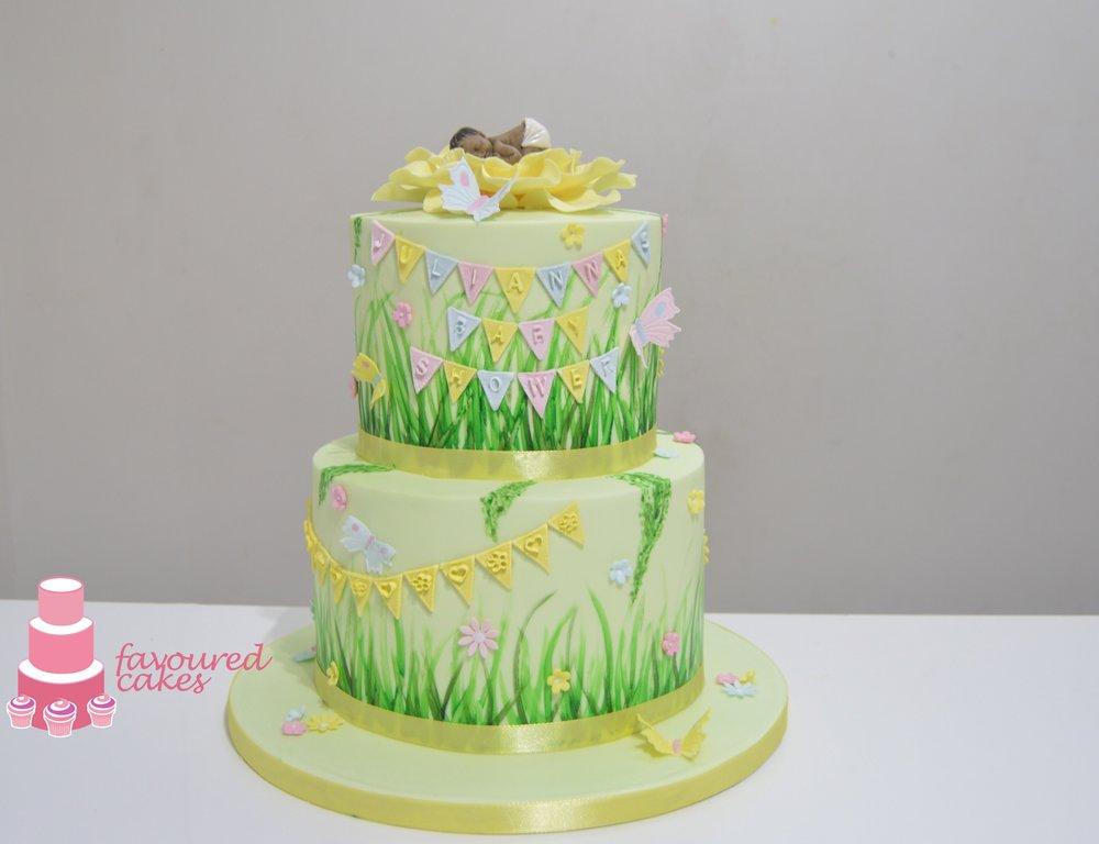 Spring Baby Shower Cake