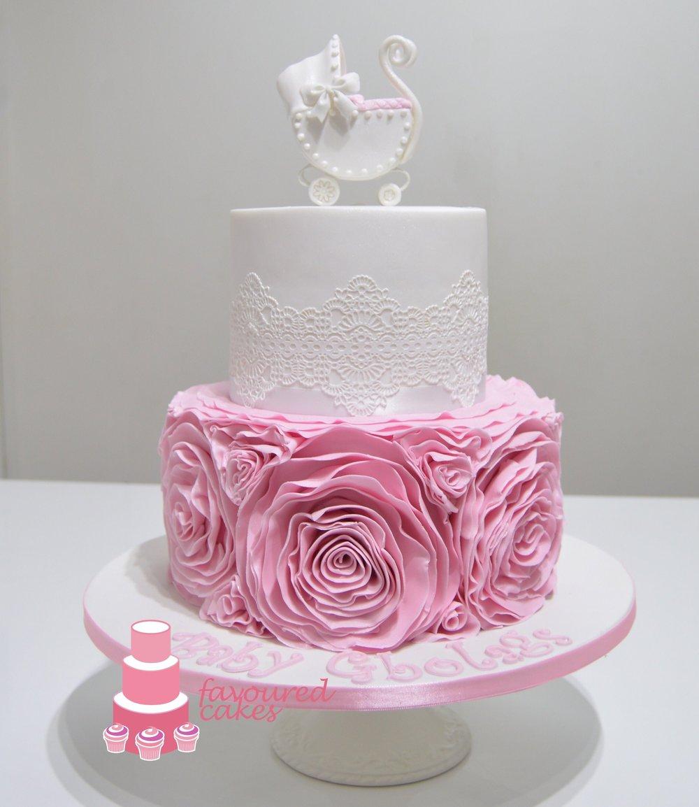 Stroller & Ruffles Cake