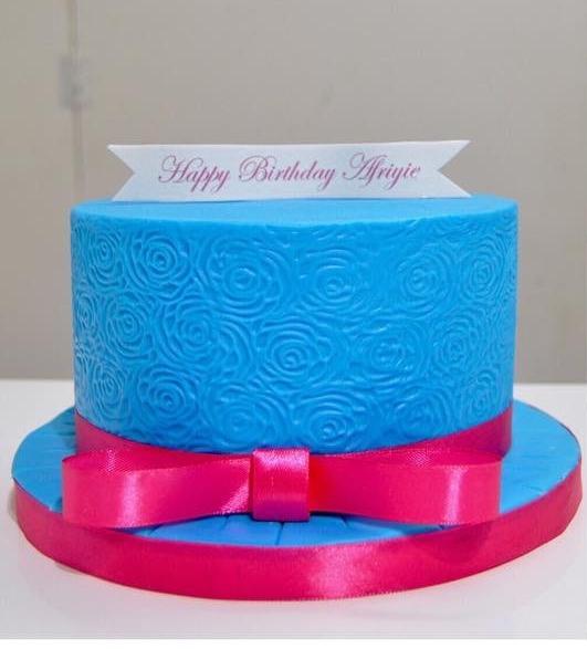 Rose Embossed Cake