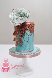 Grand Peony Sequin Cake