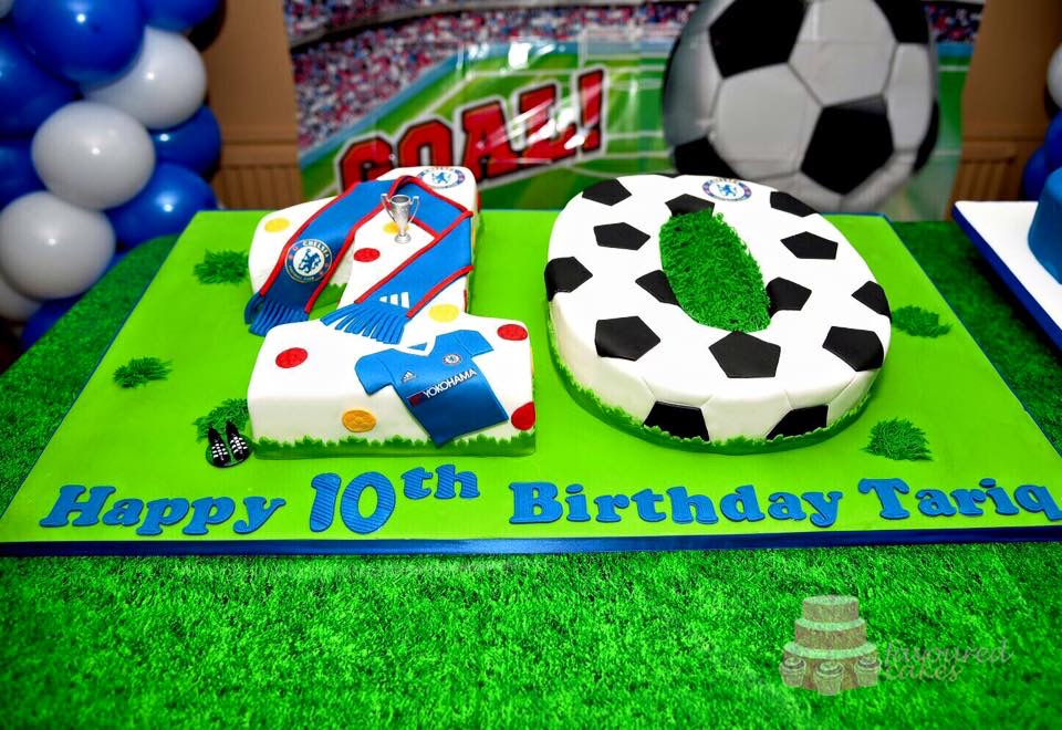 Football Number Cake