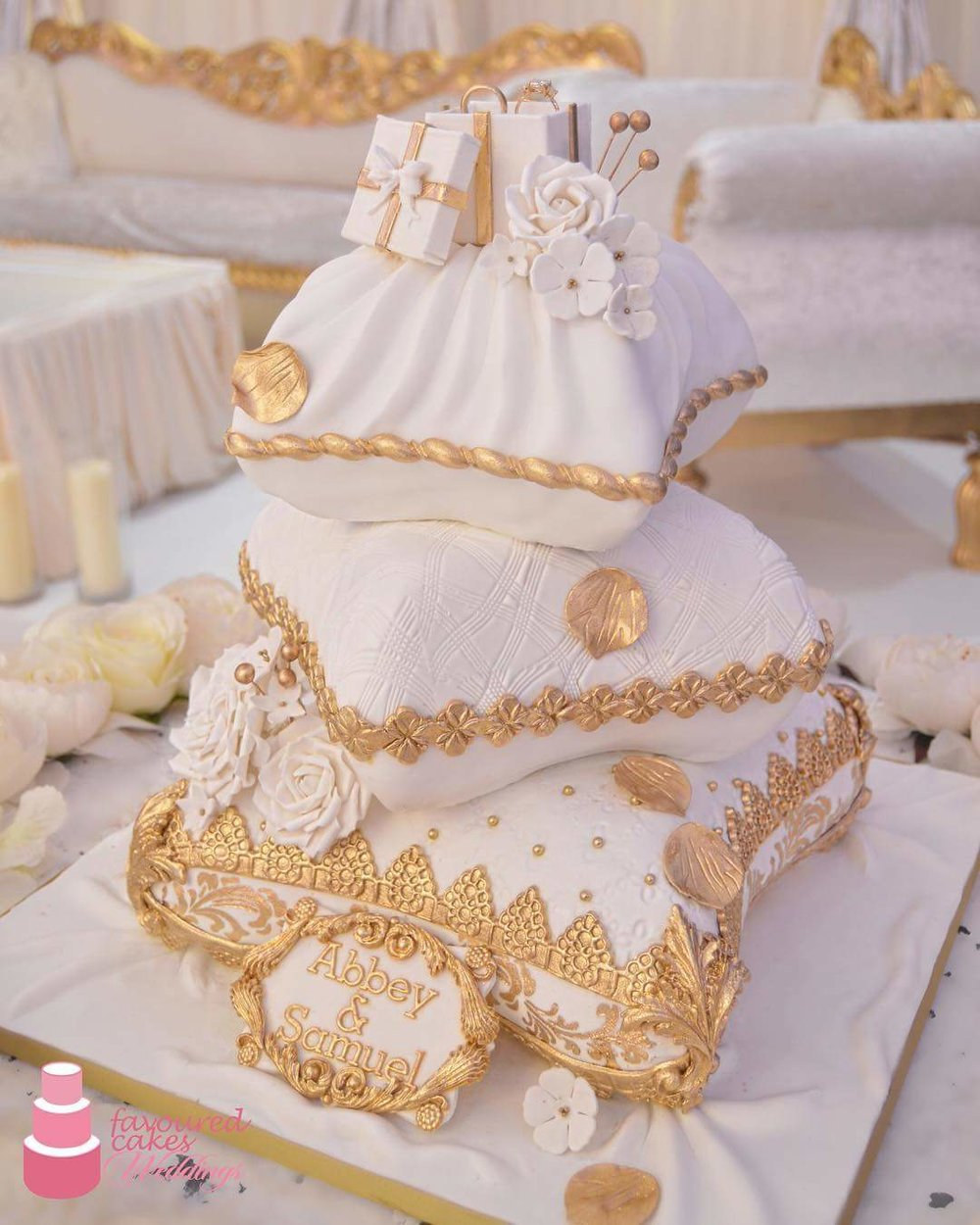 Adina Cushion Nigerian Wedding Cake