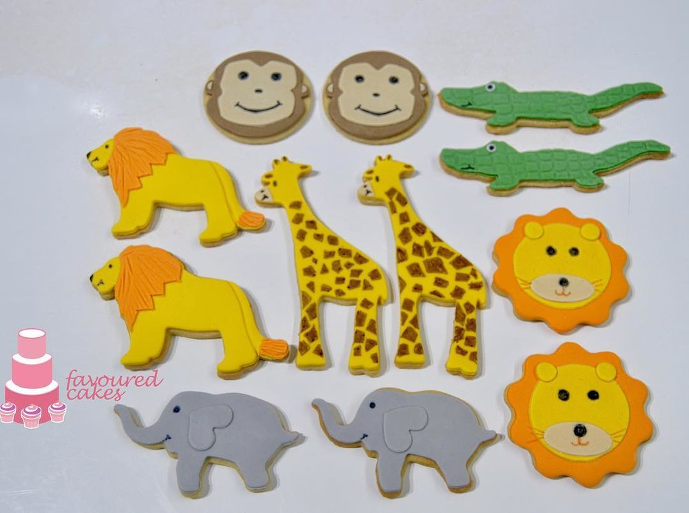 Jungle Animal Cookies