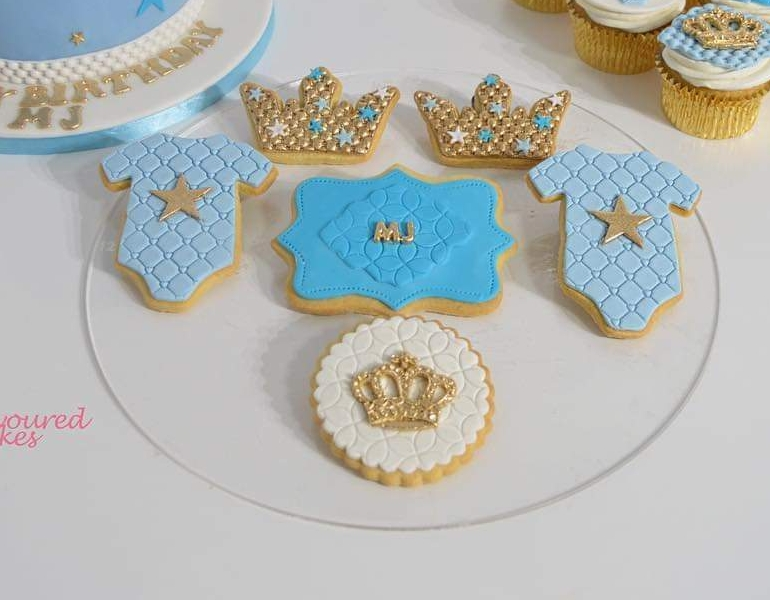 Crown & Romper Cookies