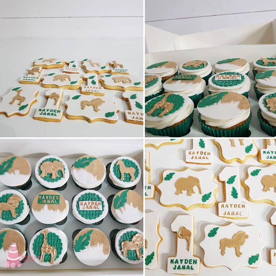 Safari Wild One Cookies & Cupcakes