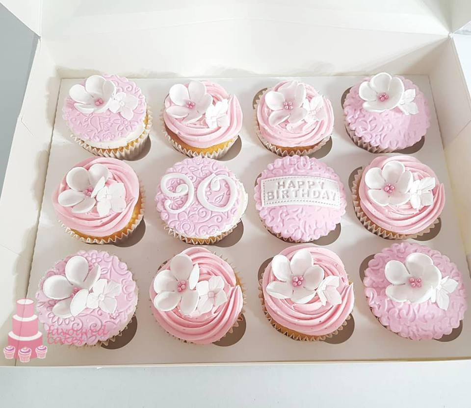 Blossoms and Age Cupcakes