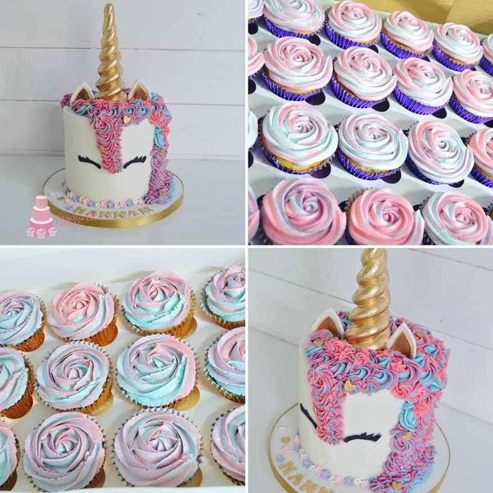 Unicorn Cake 1 & Cupcakes
