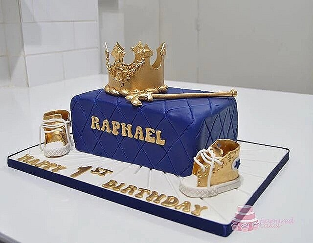 Crown & Sneakers Cake