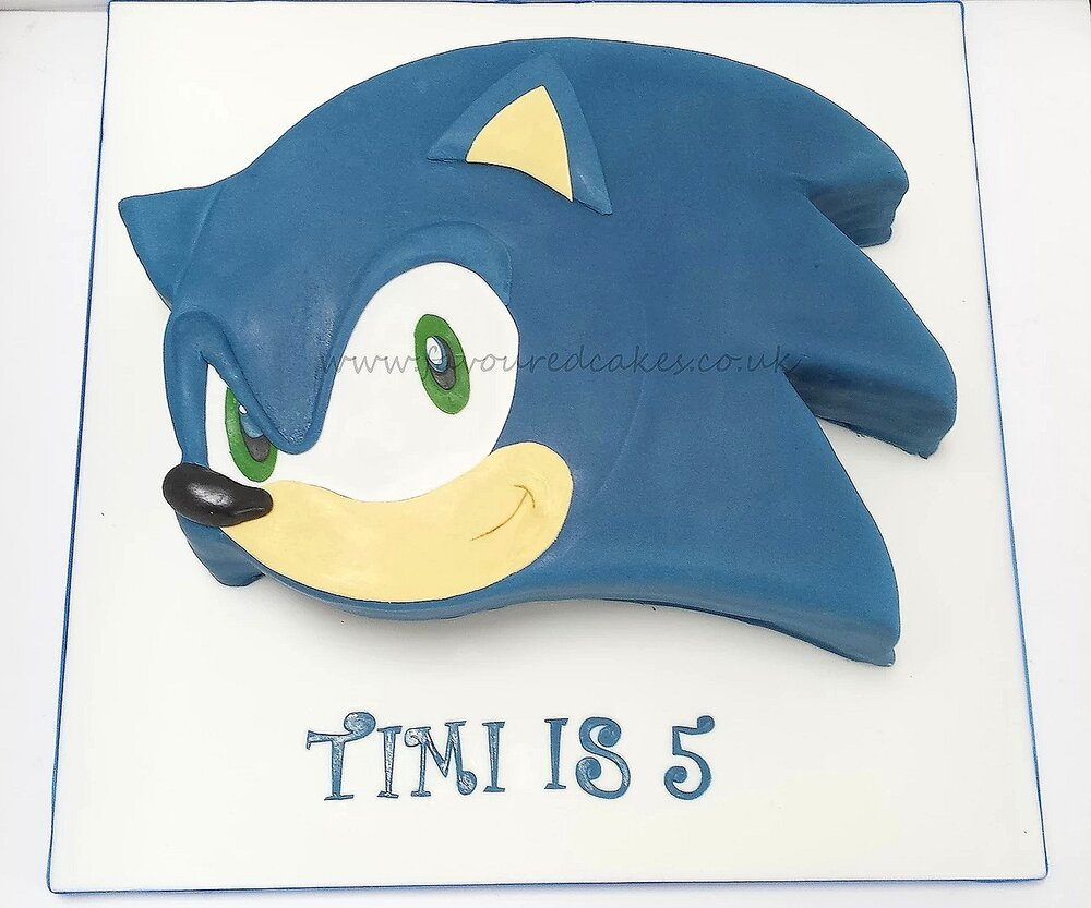 Sonic the Hedgehog Face Cake SN01