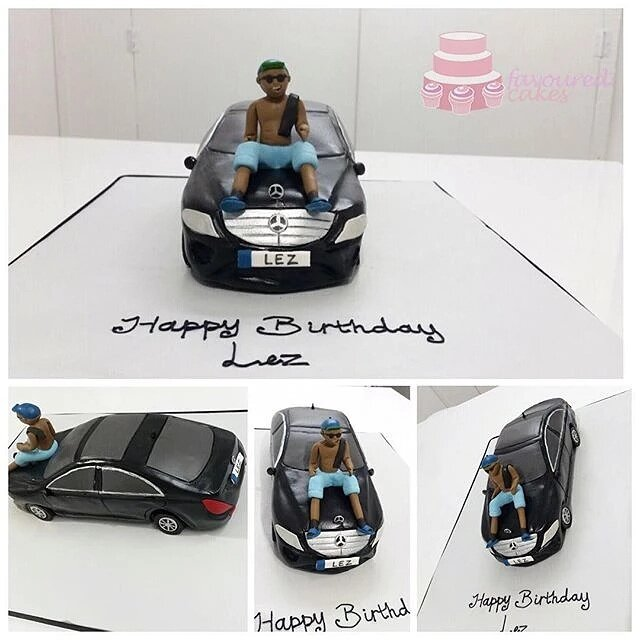 Man & Mercedes Car Cake