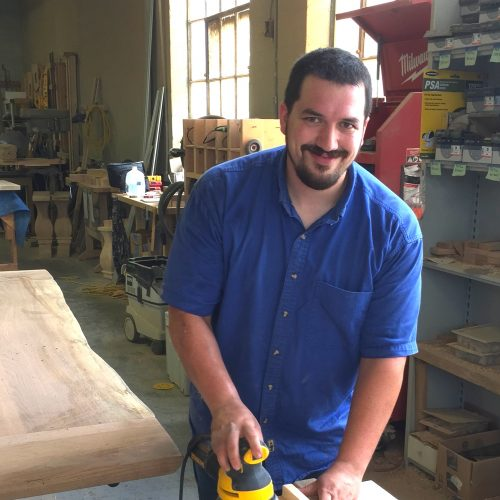 Charles   Charles has always had a passion for woodworking, and brings excitement and energy for the craft. In his spare time, he enjoys beekeeping and collecting maple syrup.