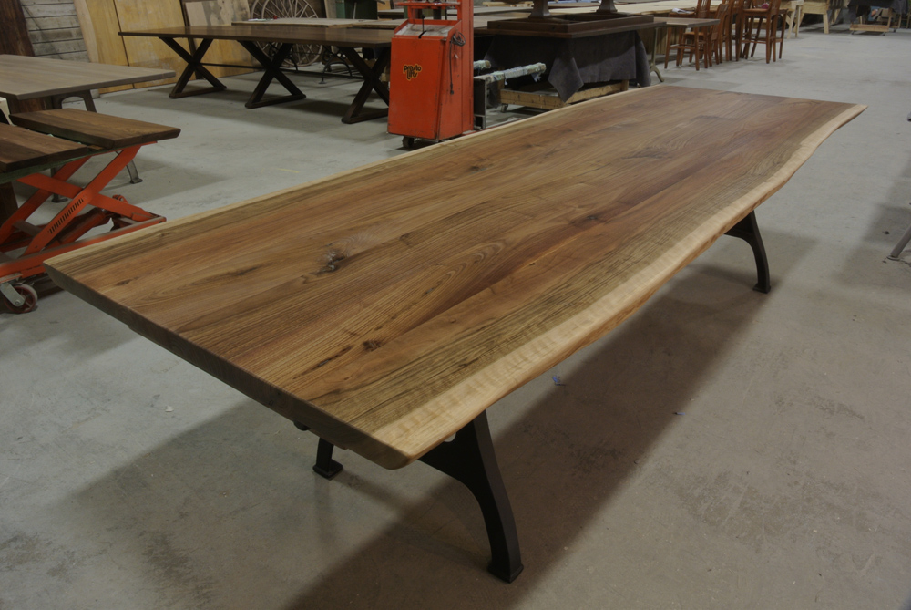 Walnut Live Edge Table on Rhode Island Legs.