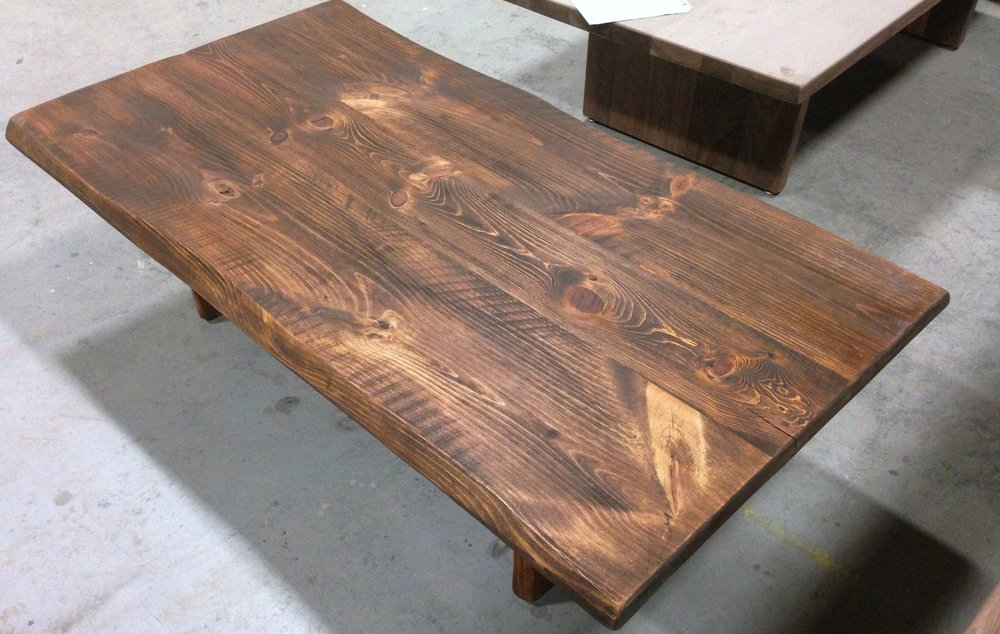 Pine old board coffee table