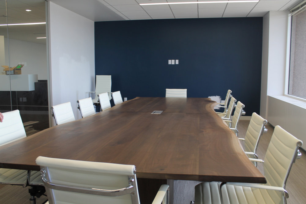 Massive Walnut Conference Table