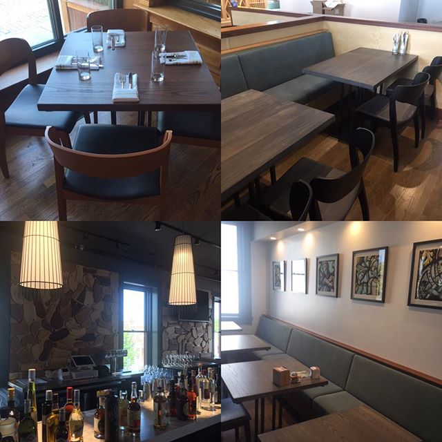 Lorimer tables in a very exciting new restaurant on Thames Street,  Newport Rhode Island