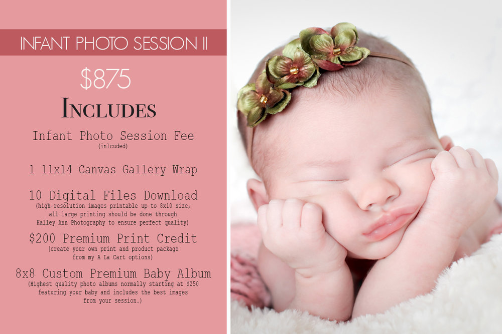 Baby Photo Session Photography Package
