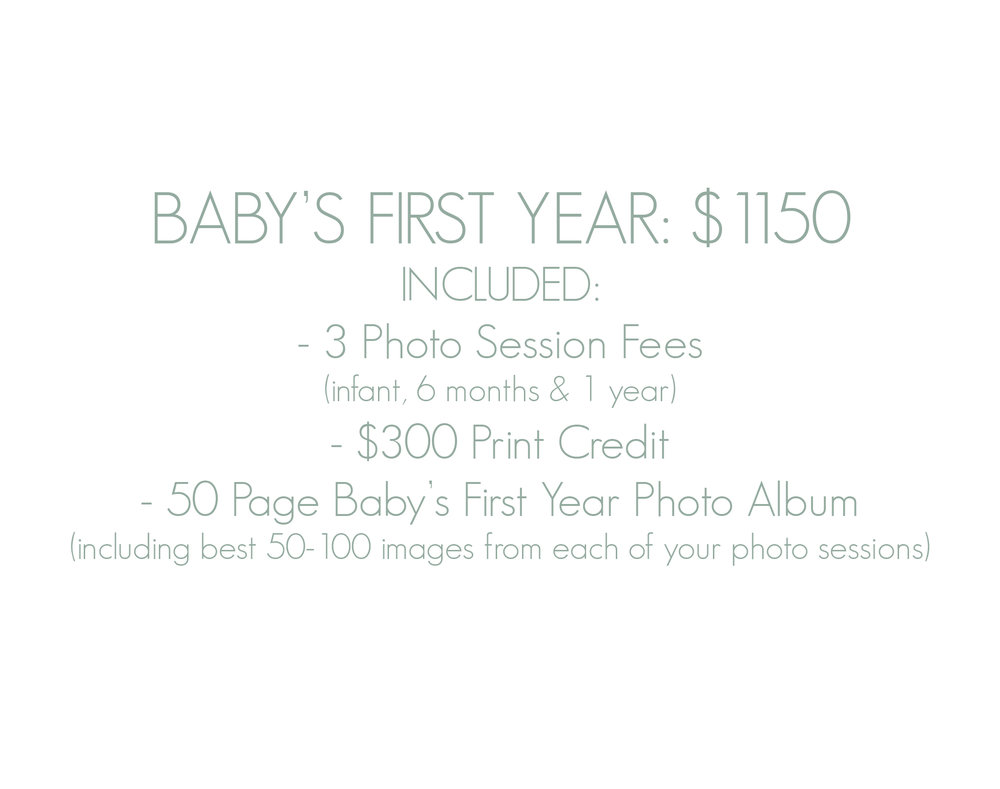 Baby's First Year Photo Session Photography Package - Best Bergen County Baby Photographer