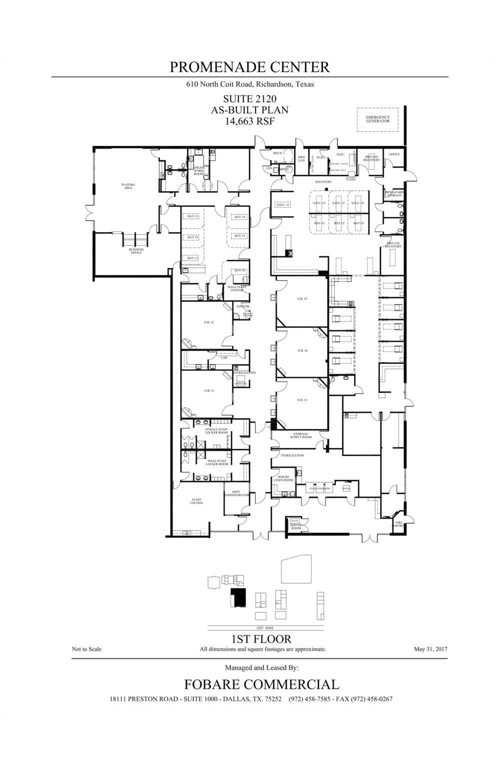 Promenade Center - Suite 2120 - As-built plan-1
