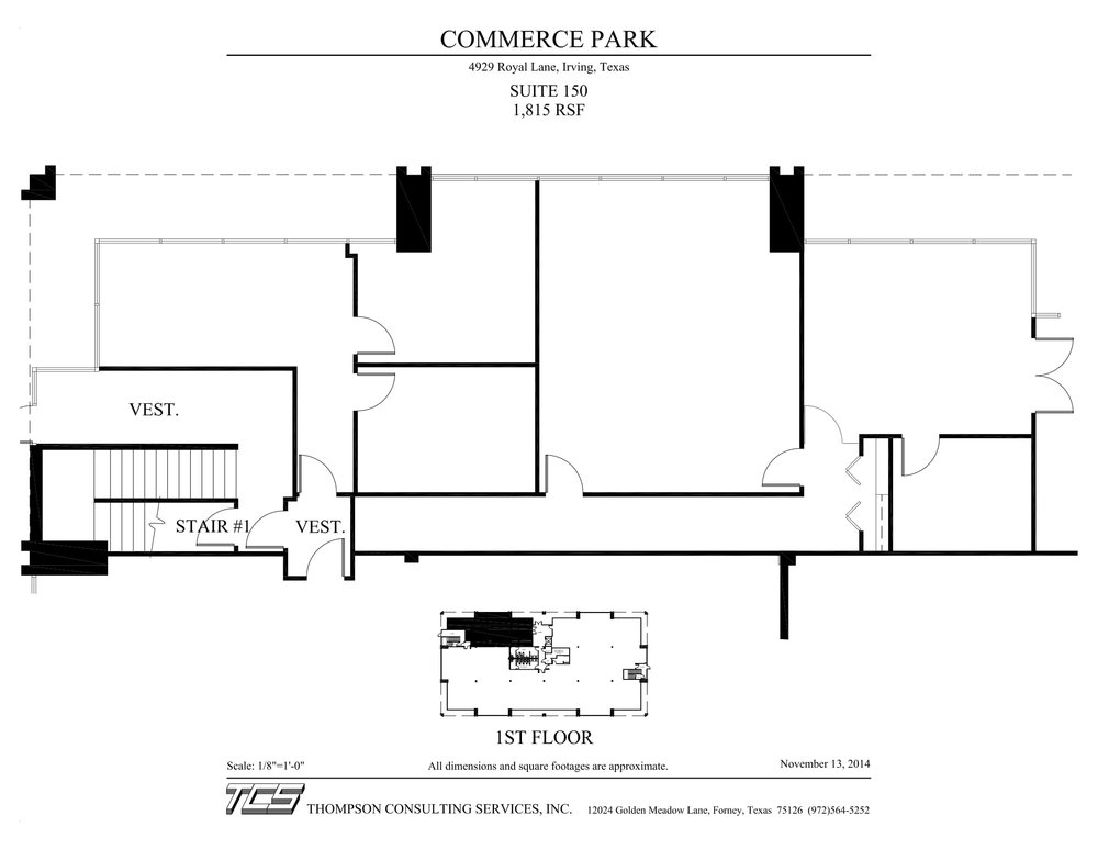 Commerce Park - 4929 Royal - Suite 150 - As-built-1