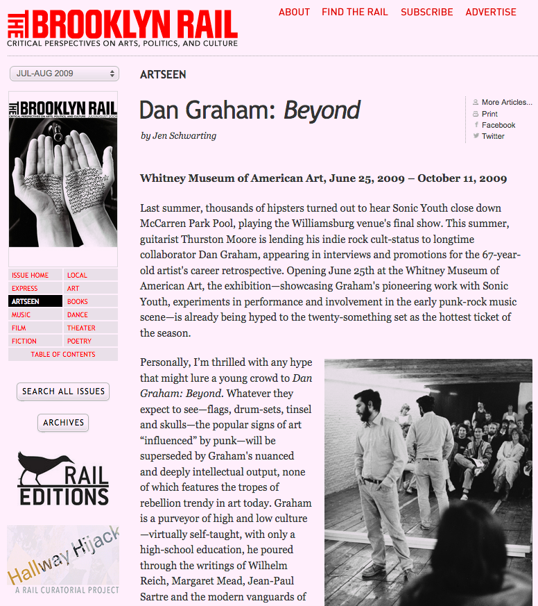 Review of Dan Graham: Beyond