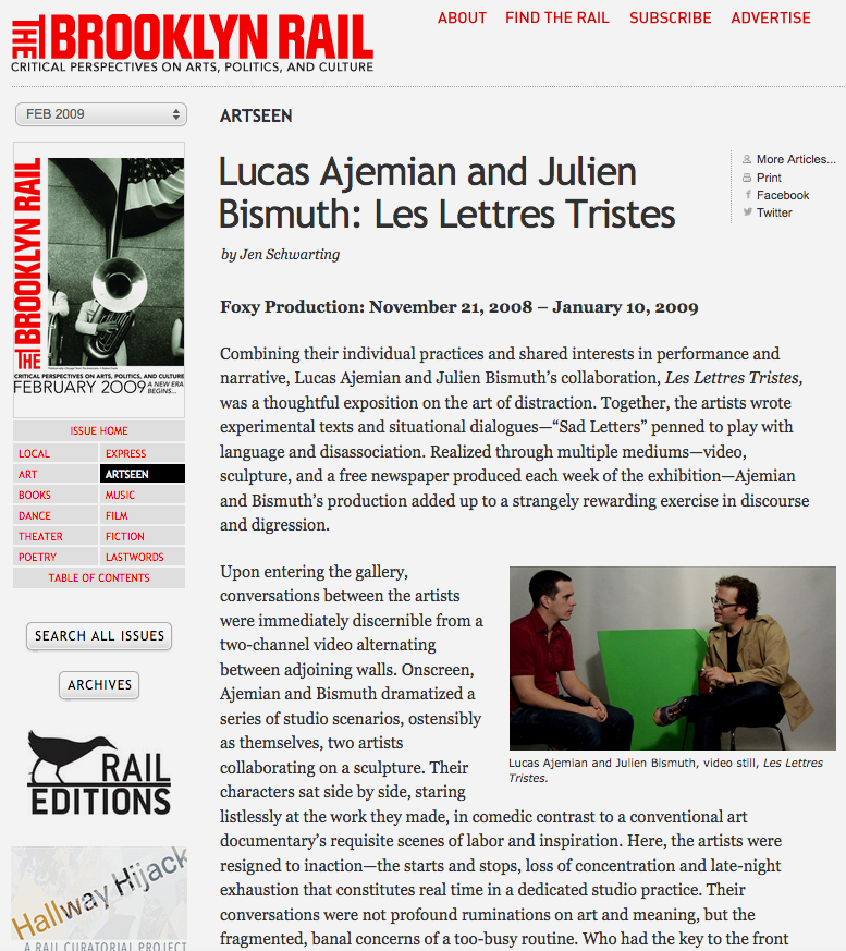 Review of Les Lettres Tristes