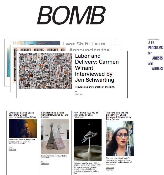 BOMB magazine interview