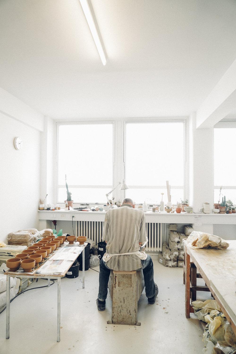 Studio Arhoj throwing room